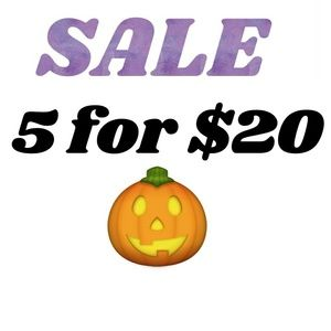 Find 🎃 items, mix and match, get 5 for $20